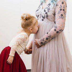 Dresses & Skirts - Beautiful Embellished Maternity Dress